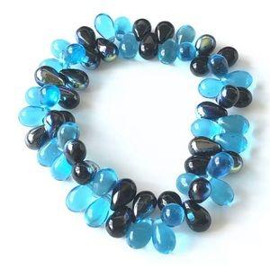 Jewelry - Blue Stretch Bracelet Small Fashion Blue Glow